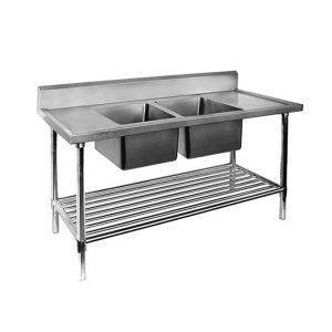ss bench double sink dsb centre 1
