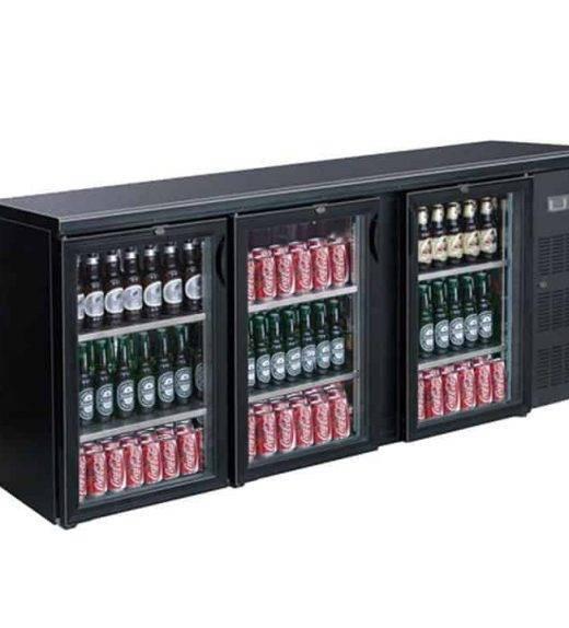 Three door drink cooler
