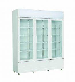 LG Three Glass Door Upright Drink Fridge