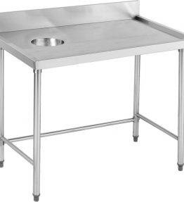 High Quality Stainless Steel Bench with splashback