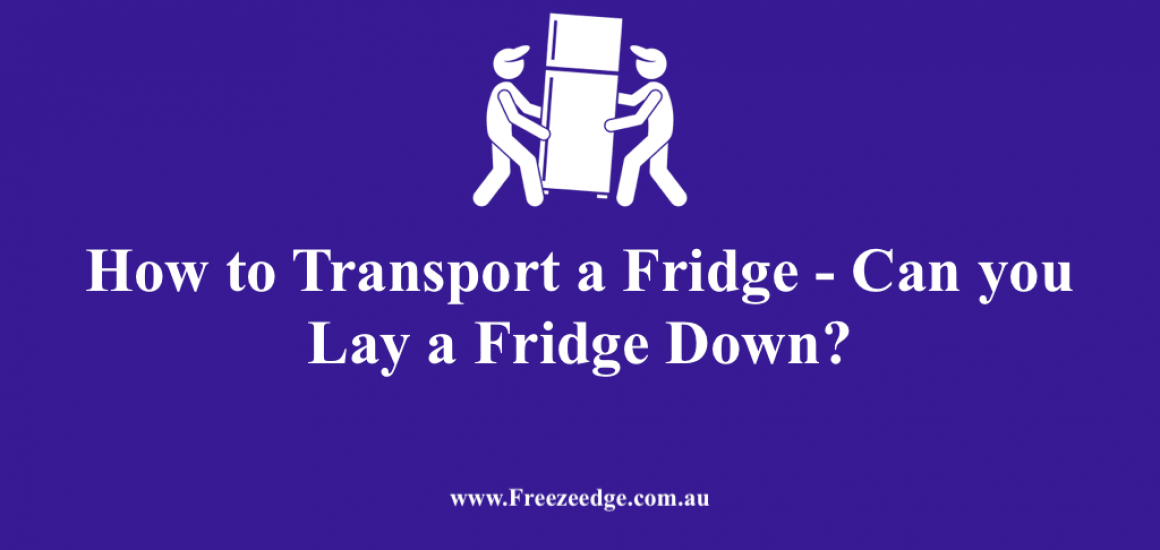 How to Transport a Fridge