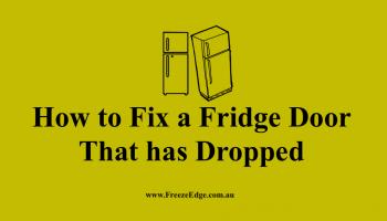 Fix a Fridge Door That has Dropped
